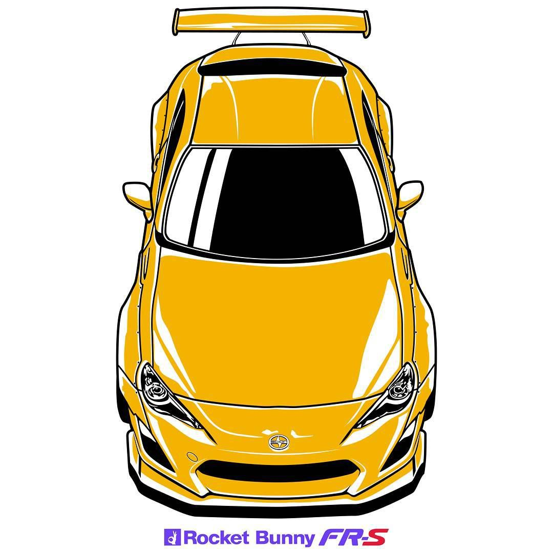 """Oleg Markaryan on Instagram: """"Scion  FR-S  by  Rocket  Bunny T-shirt , stickers and phone cases available at (link on BIO)  #mywork #myart #carart #carartist #cardrawing…"""""""