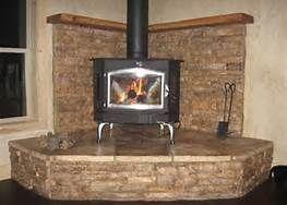 Wood Stove Corner Mantels Bing Images Wood Stove Hearth