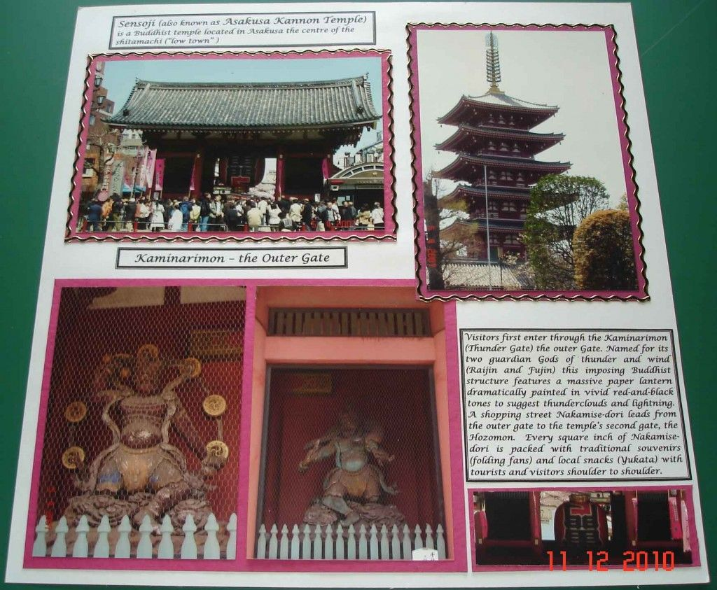 Scrapbook ideas many pictures - Sensoji Asakusa Kannon Temple Japan Scrapbooking And Design Japan Many Scrapbook Page Ideas For Japan