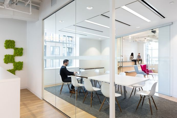 Interior design of the offices of Cossette in the Yaletown area of
