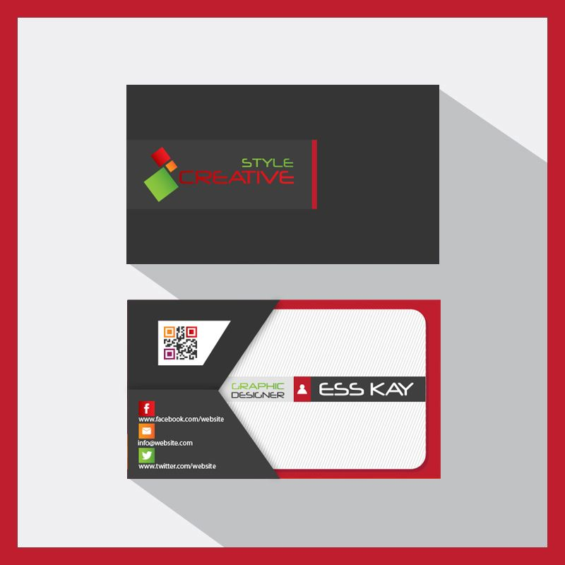 Envelope Style Creative Business Card Template Presentation