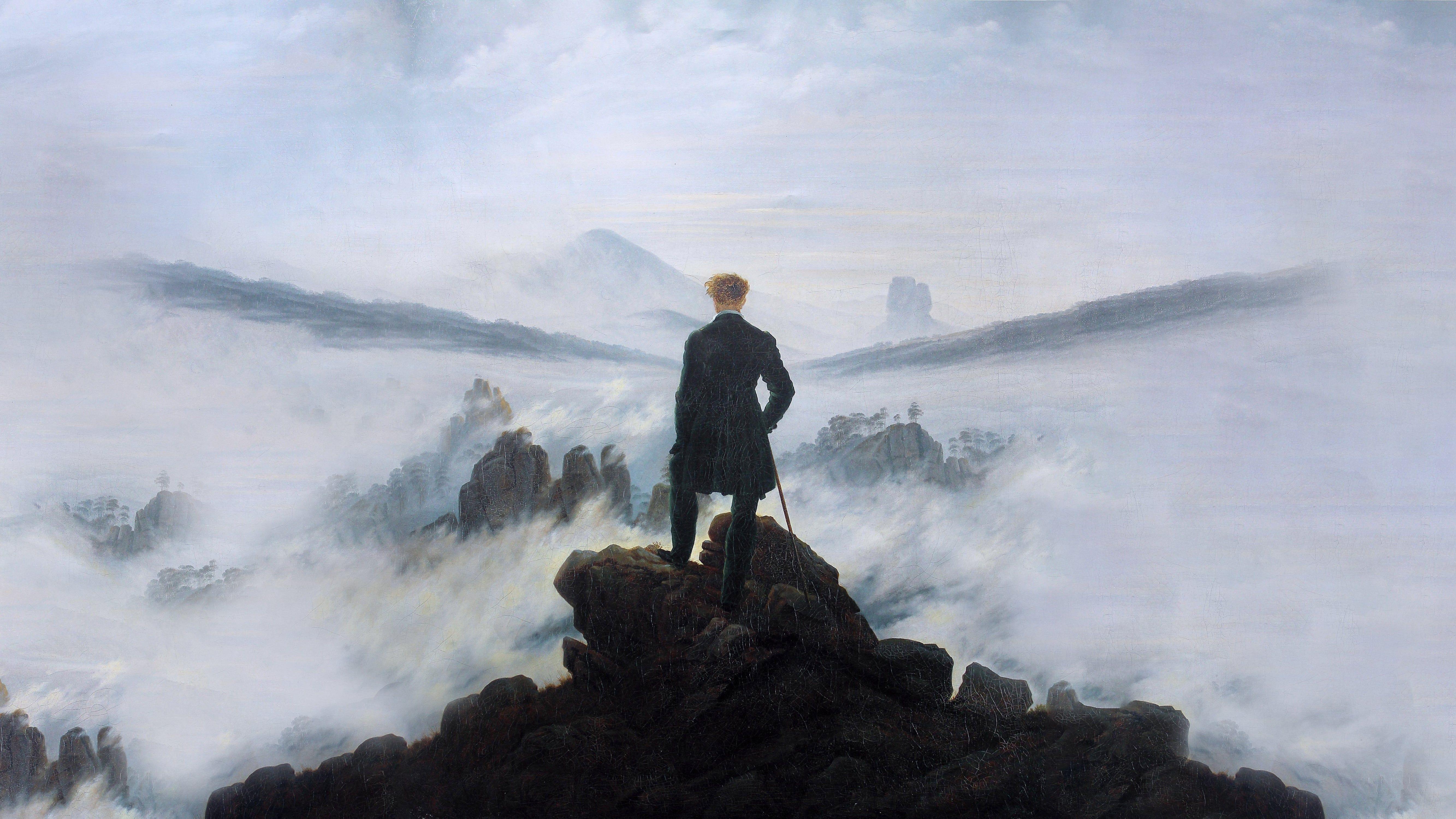 Wanderer Above the Sea of Fog wallpaper Friedrich