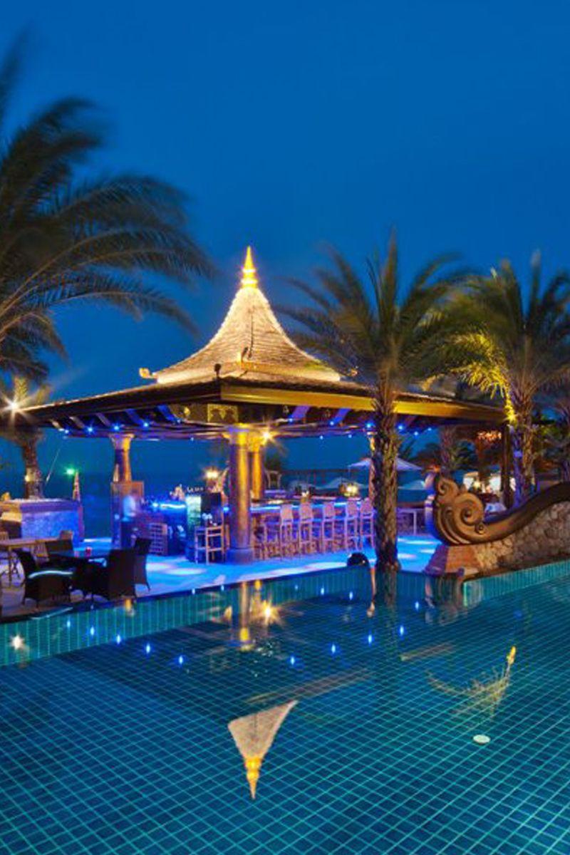 Wonderful views of the pool at night at Ammatara Pure Villas