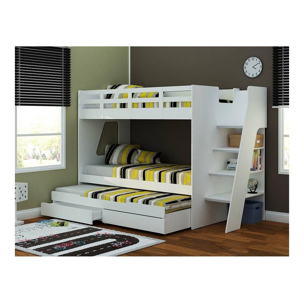 Litera con 3 camas mst cuarto invitados pinterest - Literas de 3 ...
