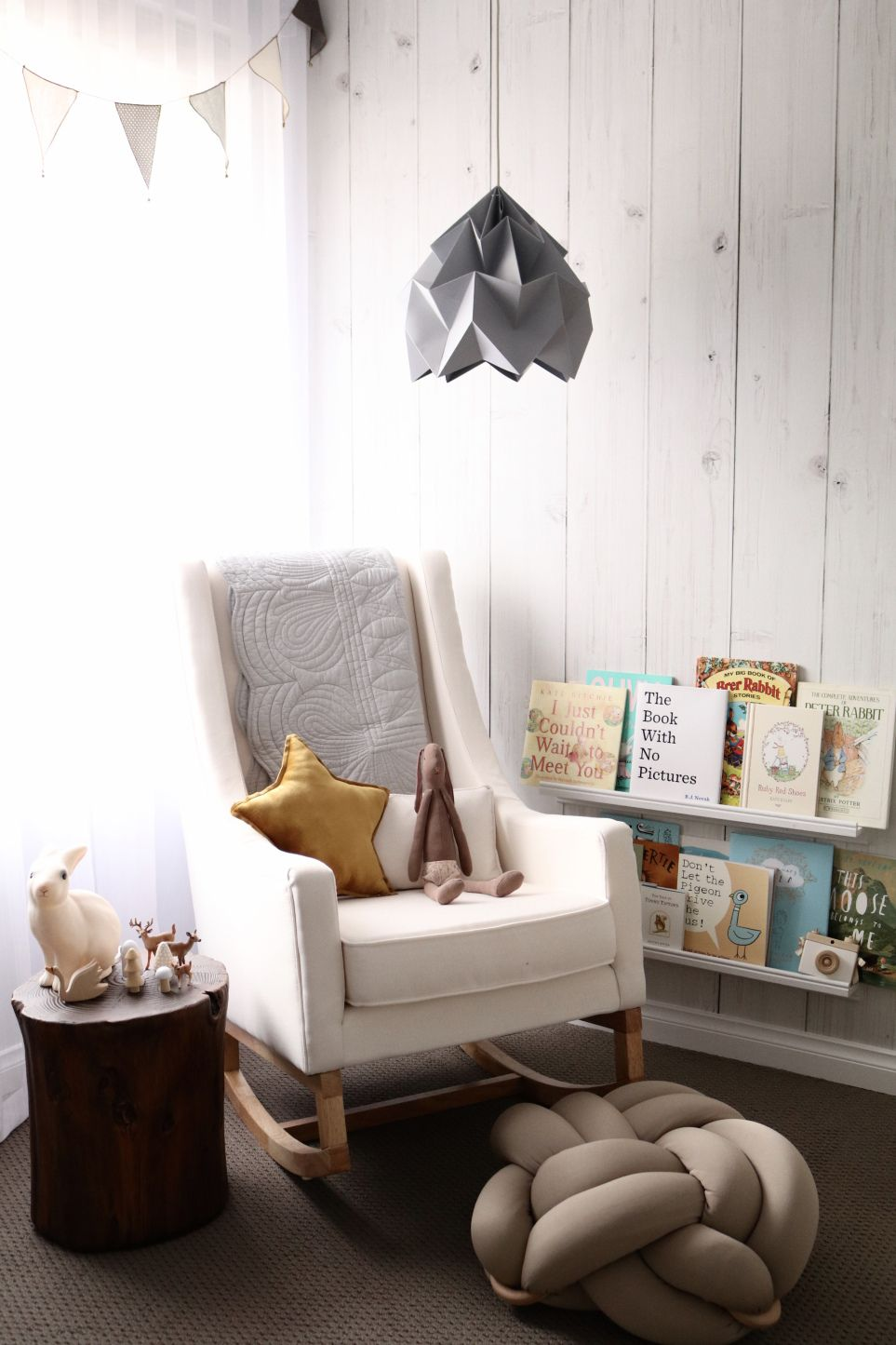 Our Unisex Baby Nursery Rocking chair nursery, Nursery