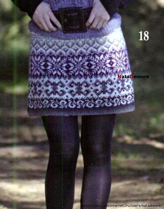 Вязание юбок из кауни