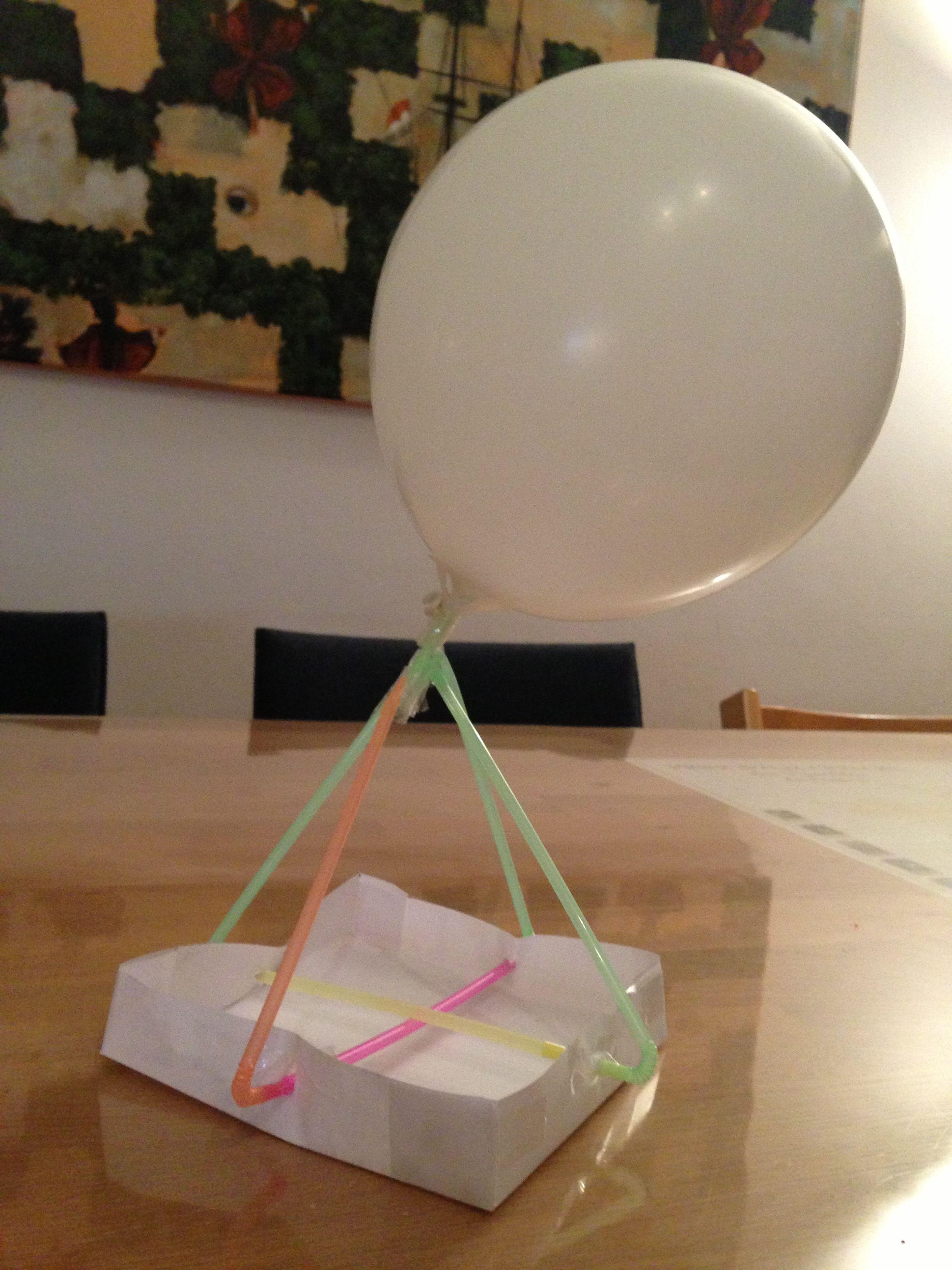 Luchtballon Knutselen Met Papier Rietjes Een Ballon En