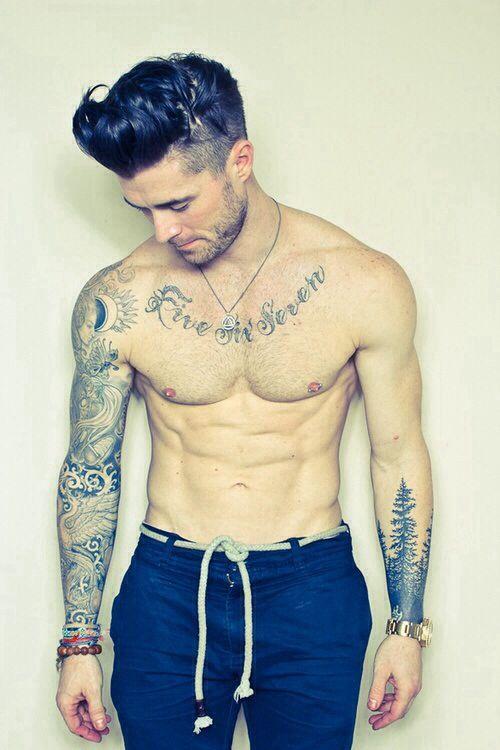 Sexy white guys with tattoos