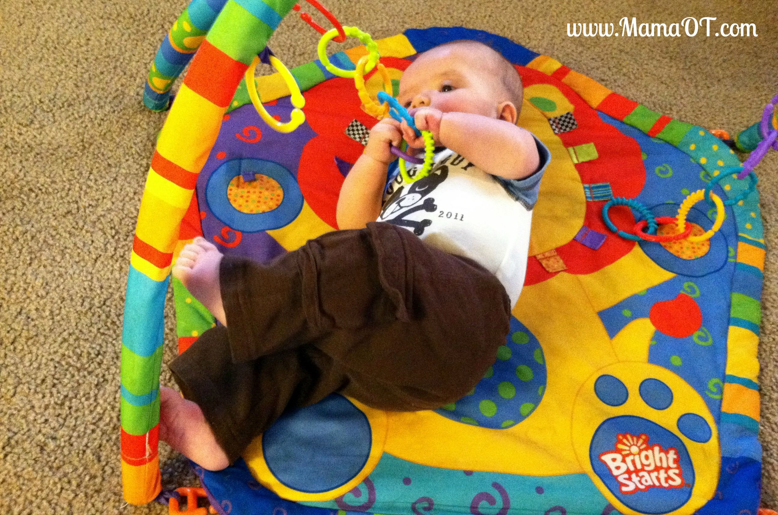 Developmental benefits of using a baby play gym baby