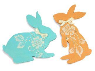 "SLDP211 - 10 ""MUD""  Bunny Ornaments Painting Pattern"