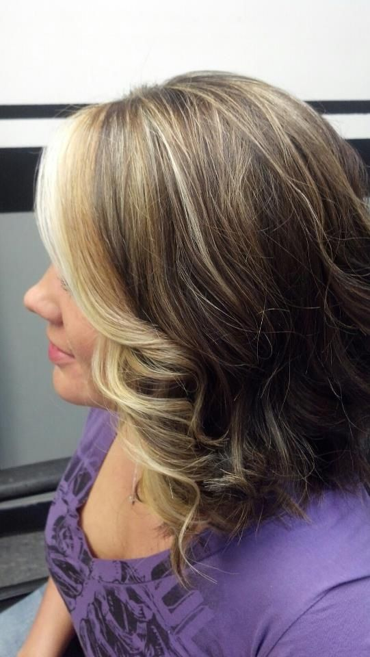 Blonde In The Front With Some Highlights Throughout Brown Blonde