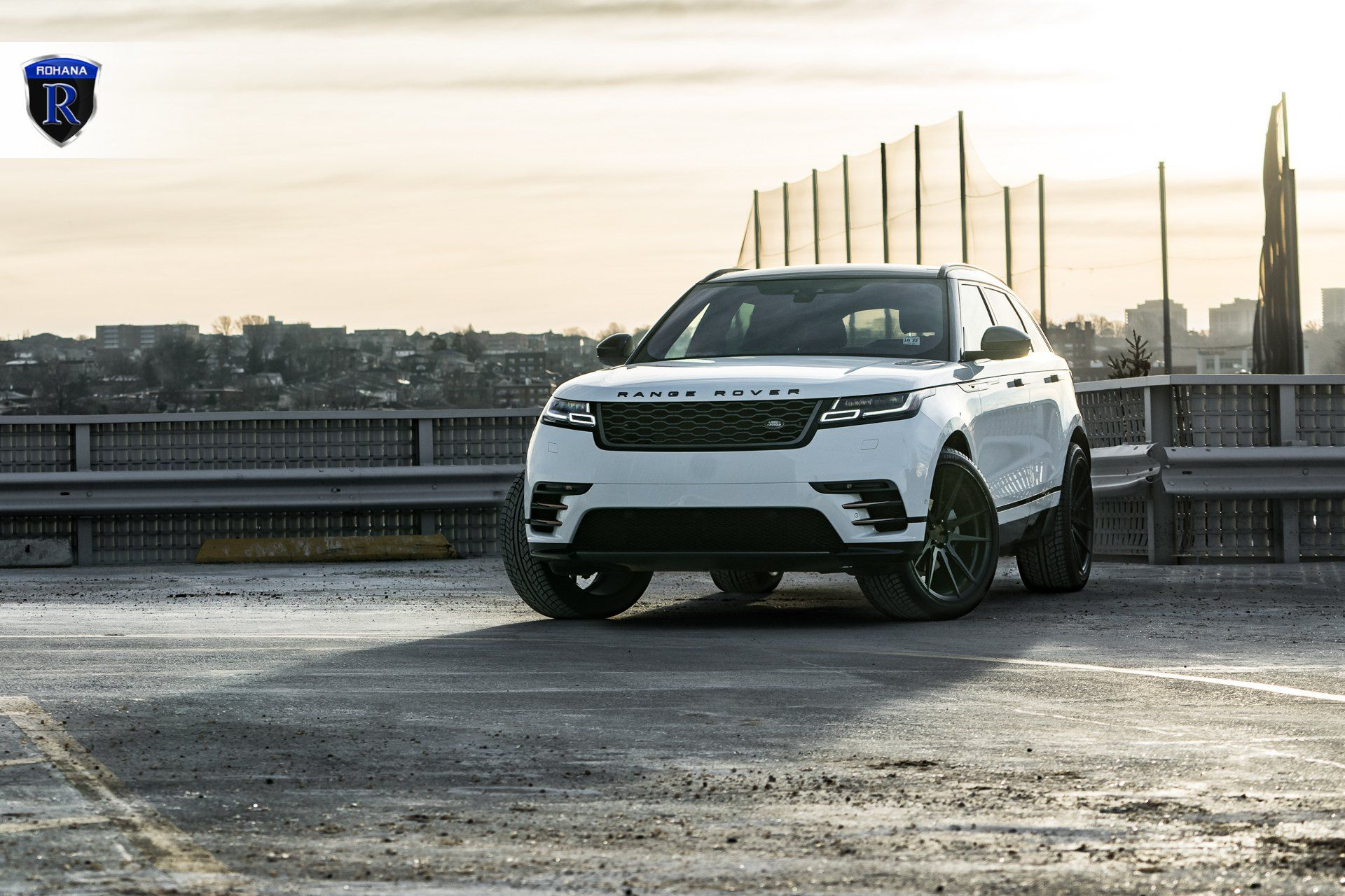 Need A Burst Of Inspiration Take A Look At The White Range Rover Velar Rocking Gloss Black Rohana Wheels Photo Range Rover White Range Rover Range Rover Black