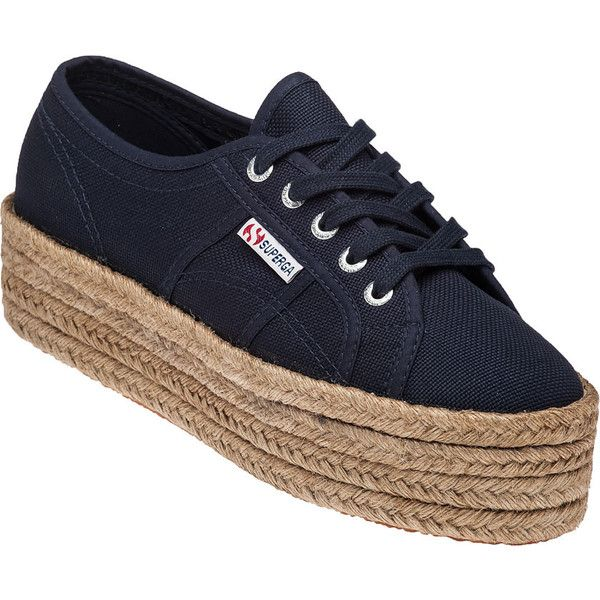 cba06cc76ef SUPERGA 2790 Navy Platform Sneaker ( 71) ❤ liked on Polyvore featuring shoes
