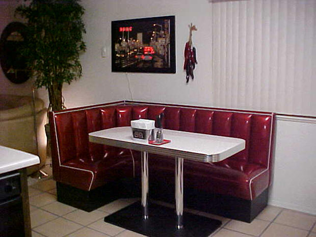 L shaped diner booths restaurant diner kitchen home 1950 39 s my dream home decor - Booth tables for kitchen ...