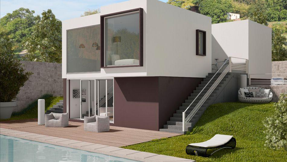 Estudio de arquitectura alicante viviendas de dise o - Casas en pendiente ...