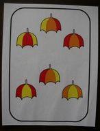L'Automne : Les petits parapluies. Motricité fine. Modelage