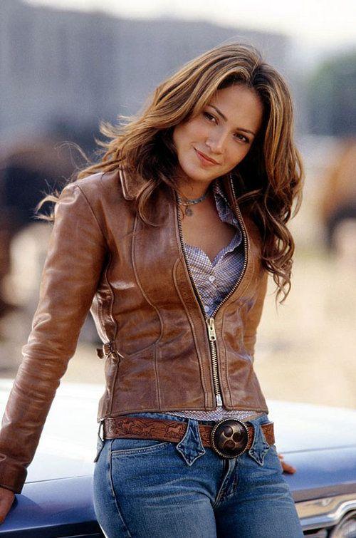 Foto de Jennifer Lopez. | Chaqueta de cuero, Moda vaquera y