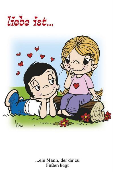 """Liebe ist ...  ... ein Mann, der dir zu Füßen liegt. Aus dem """"Liebe ist… – Sprüchekalender 2019"""" - Dieser Monatskalender mit Liebe ist ... Sprüchen wird hier www.spruechetante.de/mit-spruechen/liebe-ist-2019-spruechekalender/ näher vorgestellt."""