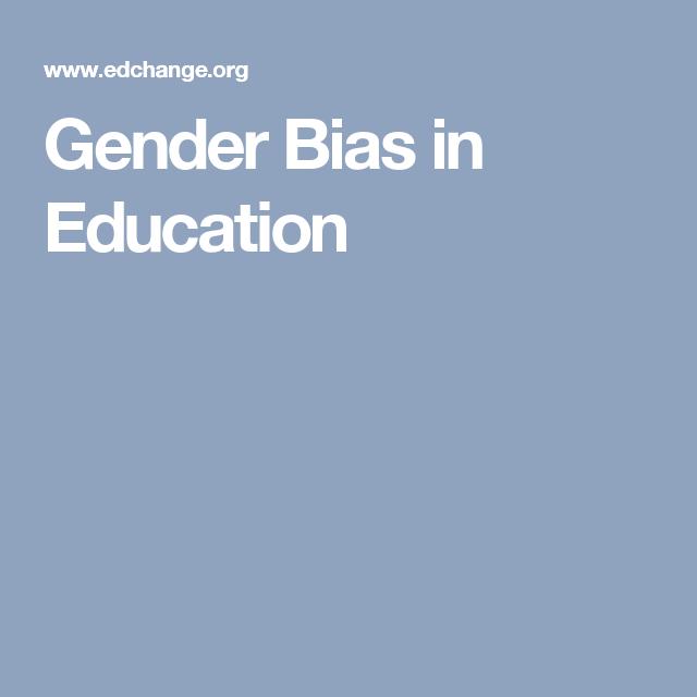 Gender Bias In Education Education Gender Diversity In The Classroom
