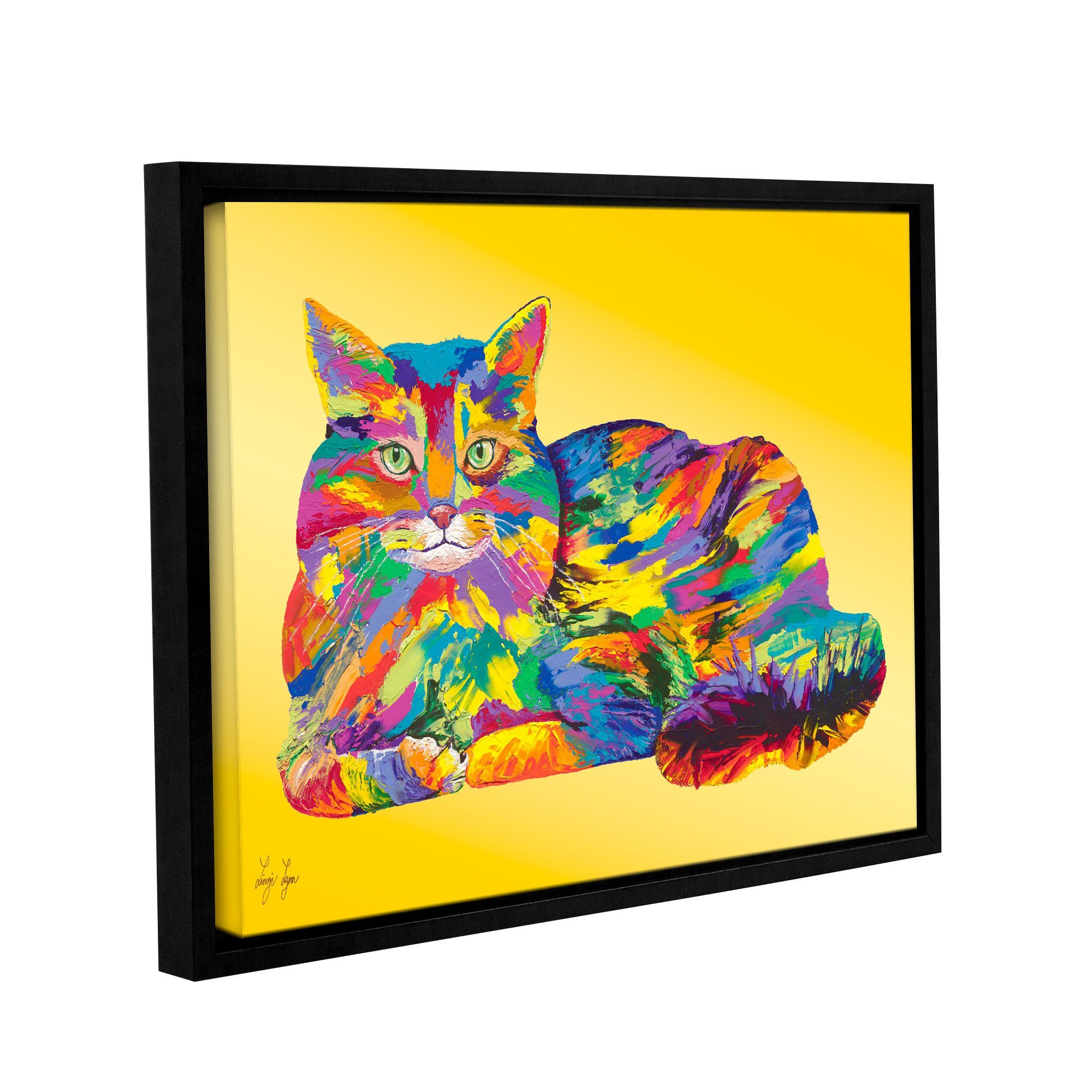 Giles by Linzi Lynn Floater Framed Painting Print on Gallery Wrapped ...