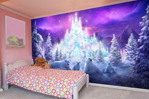 Frozen ice wallpaper mural for girls grand babies - Wall mural ideas for bedroom ...