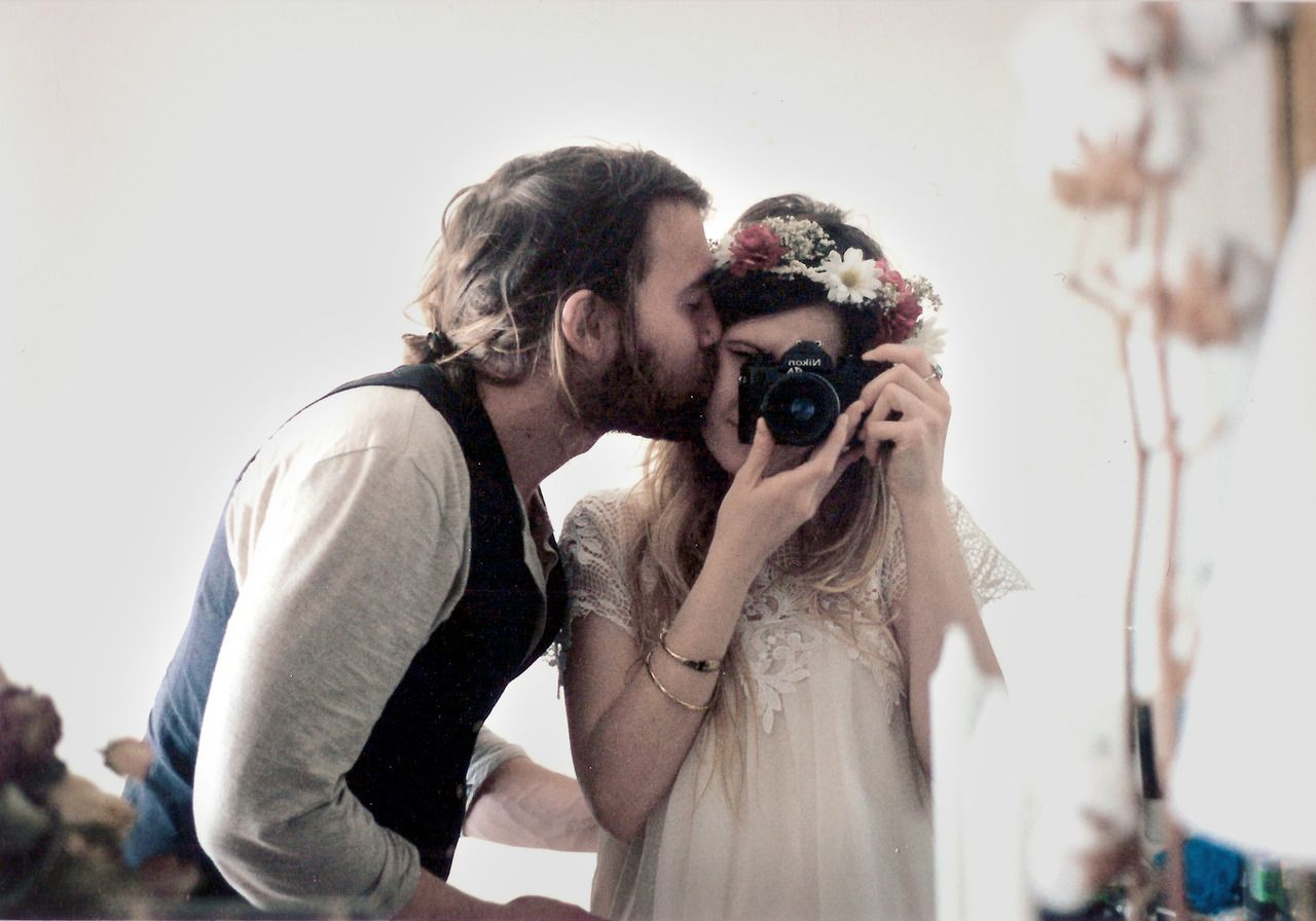 Maud chalard and theo gosselin, analog, couple, love, lovers, kiss, glass,  portrait, cute , hippie style, boho chalard-maud.tumblr.com