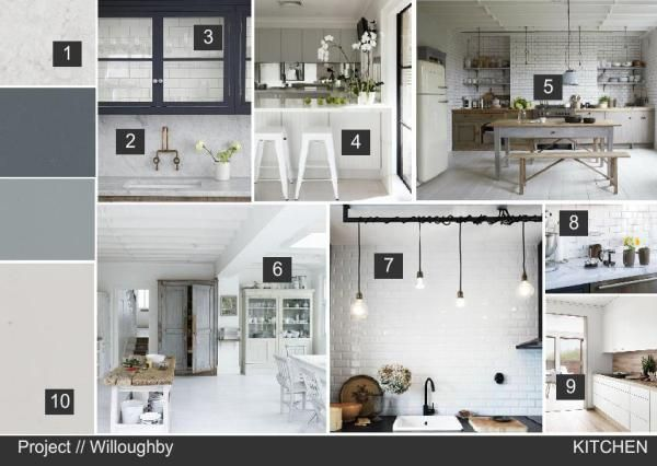 Nordic Kitchen Design Concept Click On Mood Board For Item List Interior