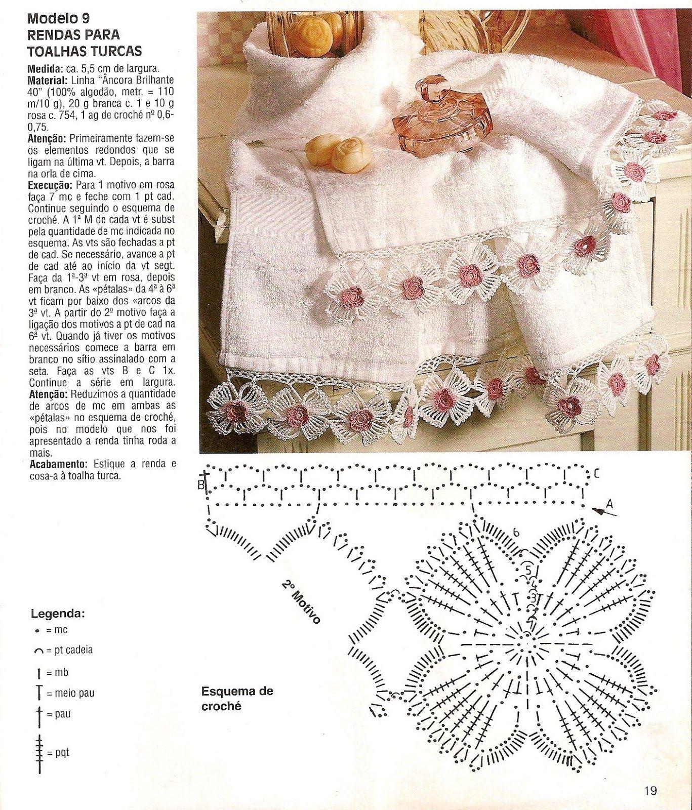 Barrado Em Crochê Com Flores - CROCHE COM RECEITAS