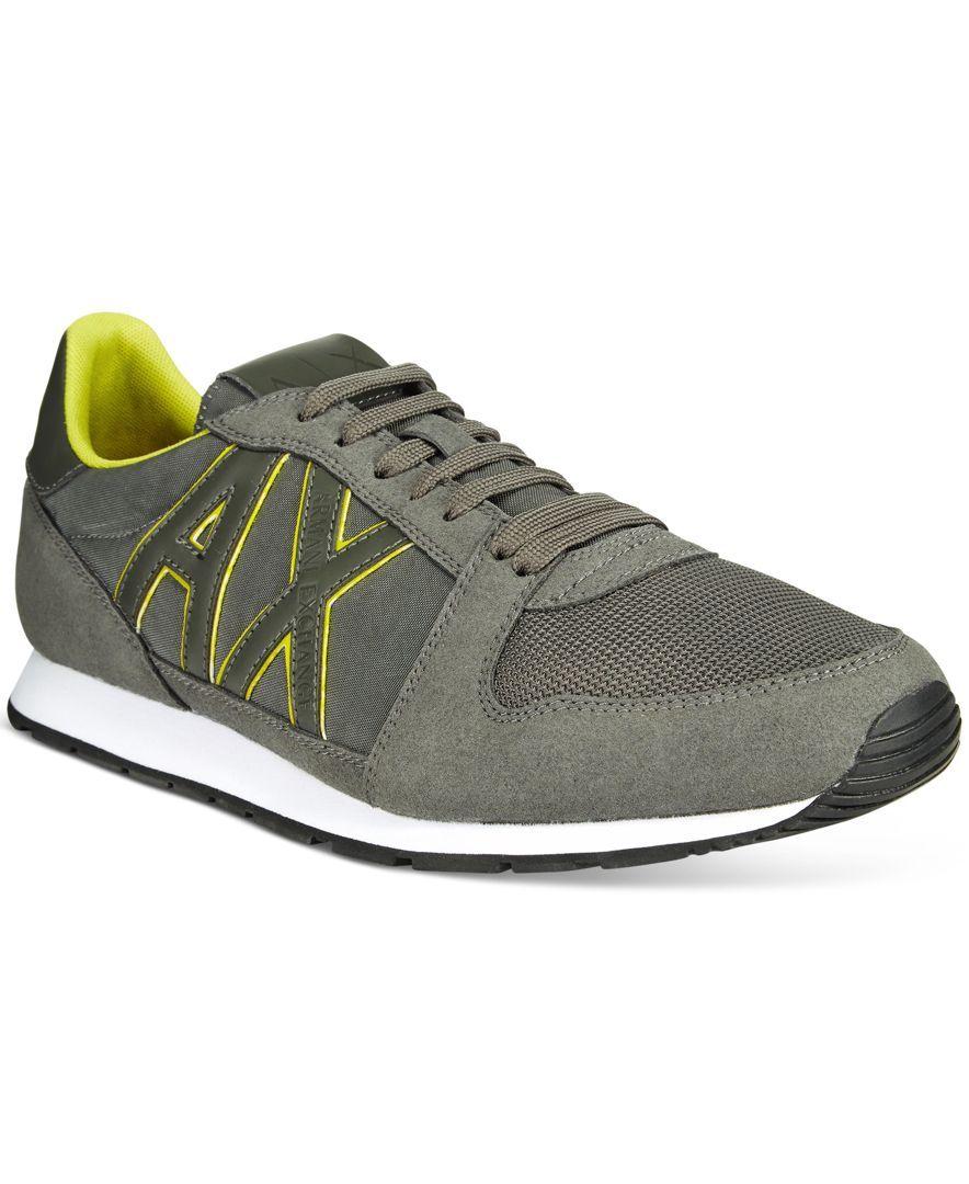 Armani Exchange Men's AX Jogger Sneakers - All Men's Shoes - Men - Macy's