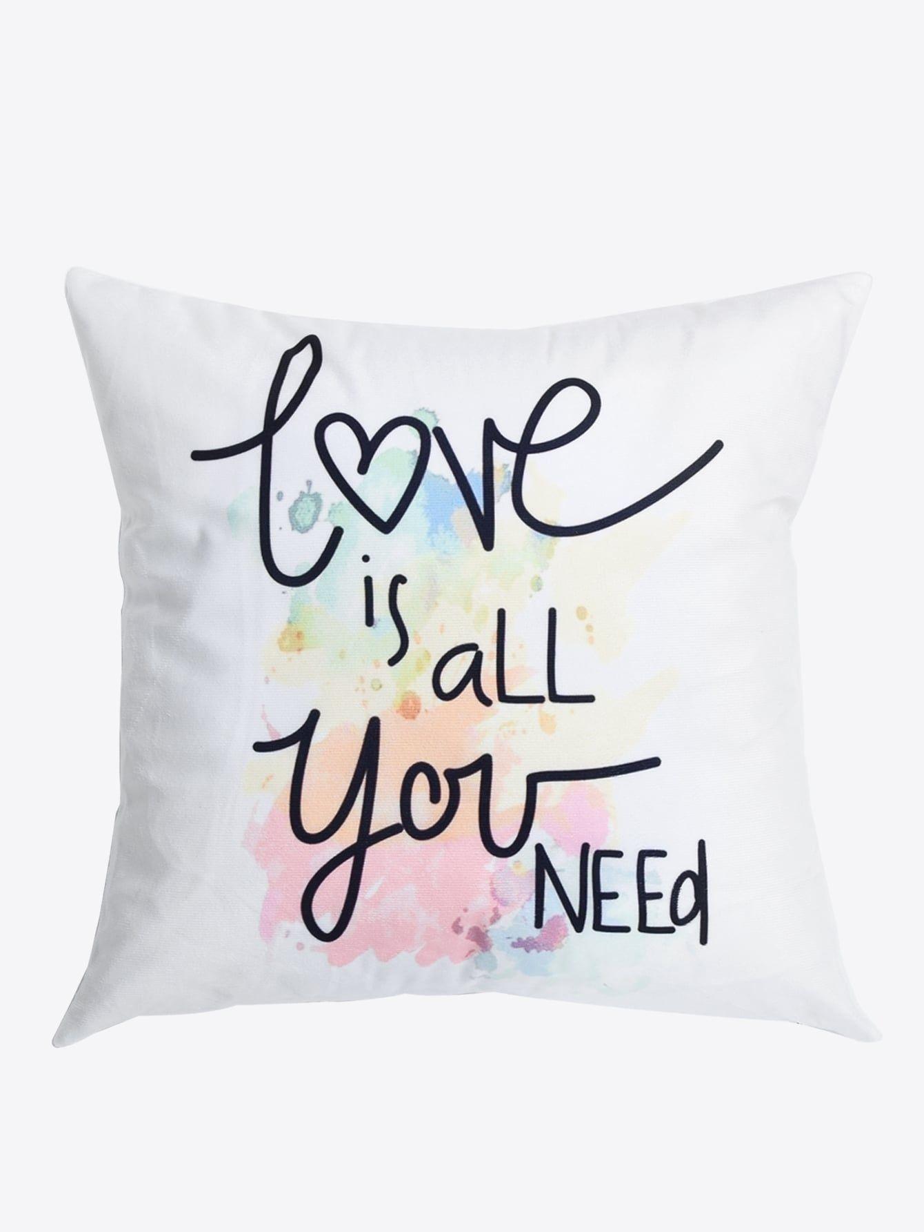 Slogan Print Cushion Cover Print Slogan Cover Bed Pillows 377e857214