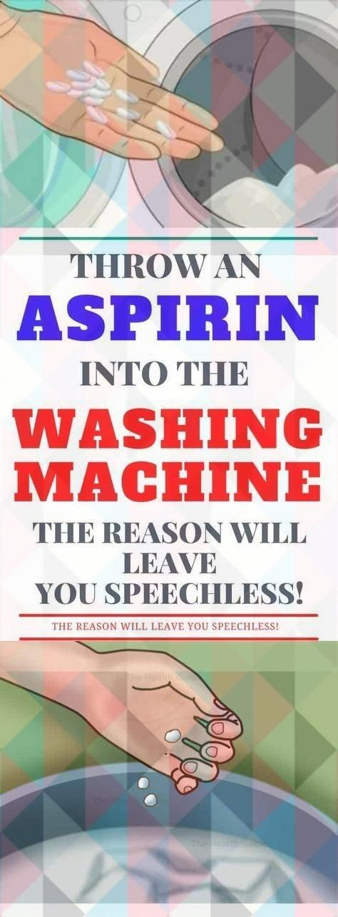 Throw An #aspirin Into The Washing Machine! The Reason Will Leave You Speechless!#health #fitness