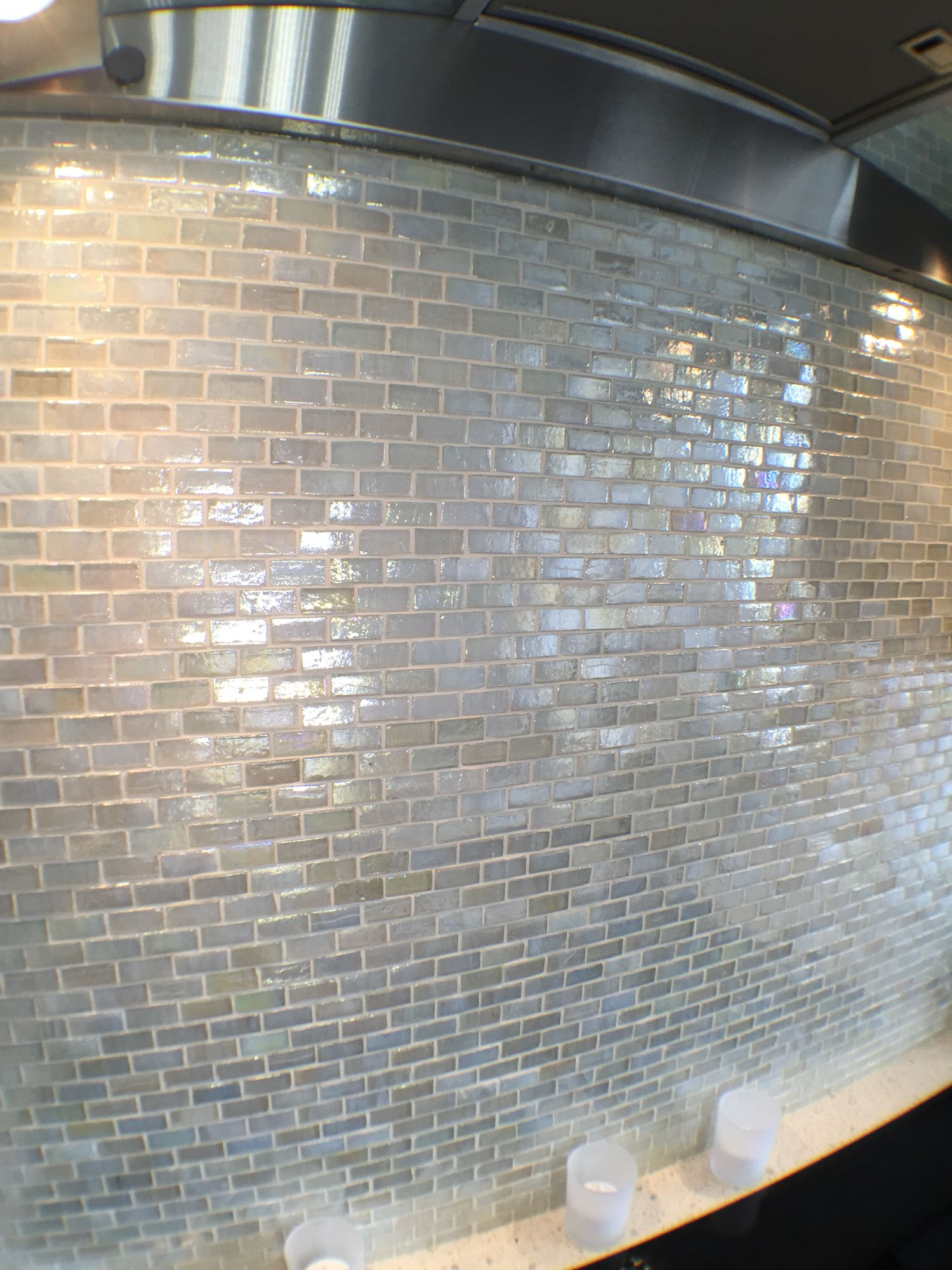 Grout Mosaic Tile Handmade Glass Mosaic With White Epoxy Grout Tiles Have A