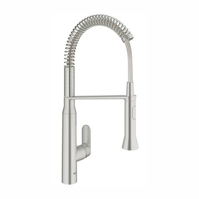 Grohe 31380 K7 Kitchen faucet, Dual Spray Pull-Out Semi-Pro Medium ...