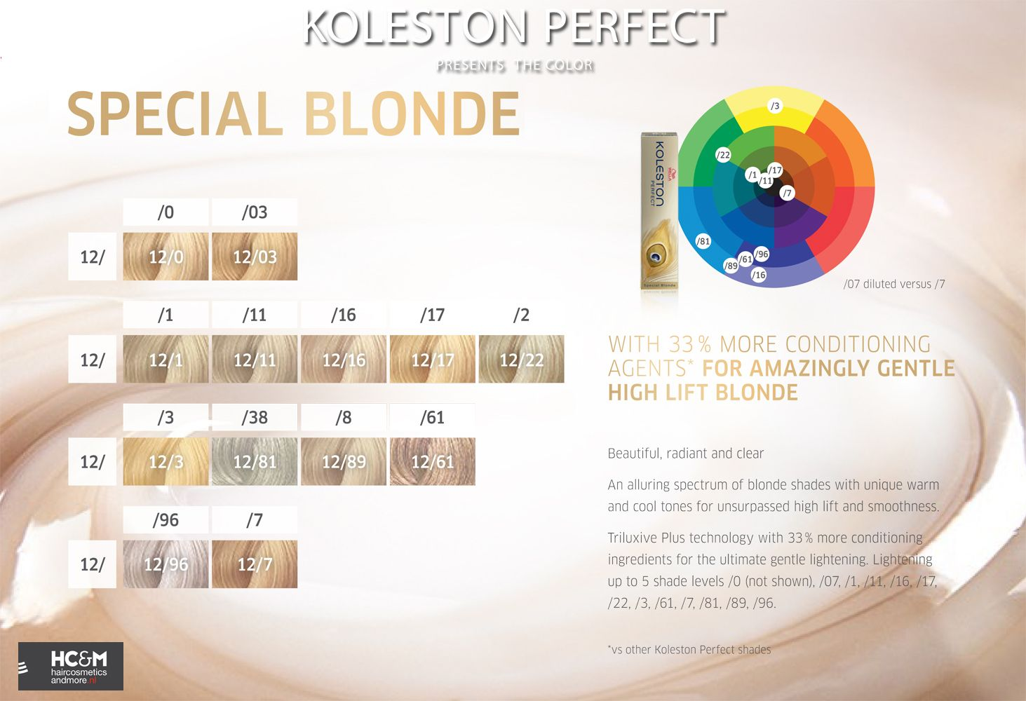 Wella professionals koleston perfect presents the color special blonde chart also rh pinterest