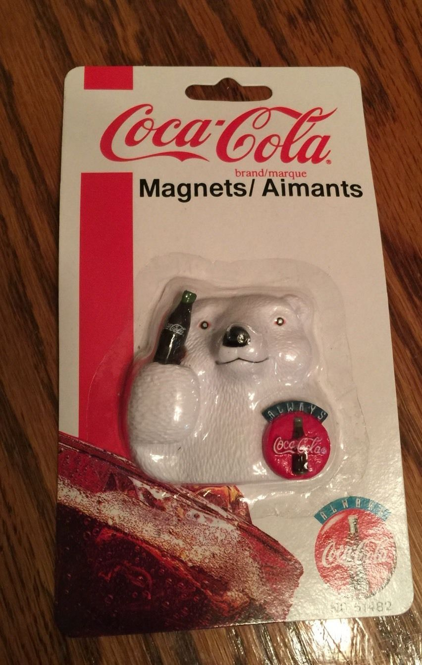Coca Cola Coke Magnet Aimants Snowbear New 1995 | eBay