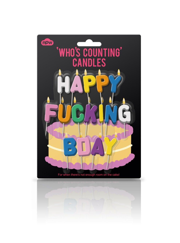 Amazon.com: Happy Fucking Birthday Bday Candles: Kitchen & Dining
