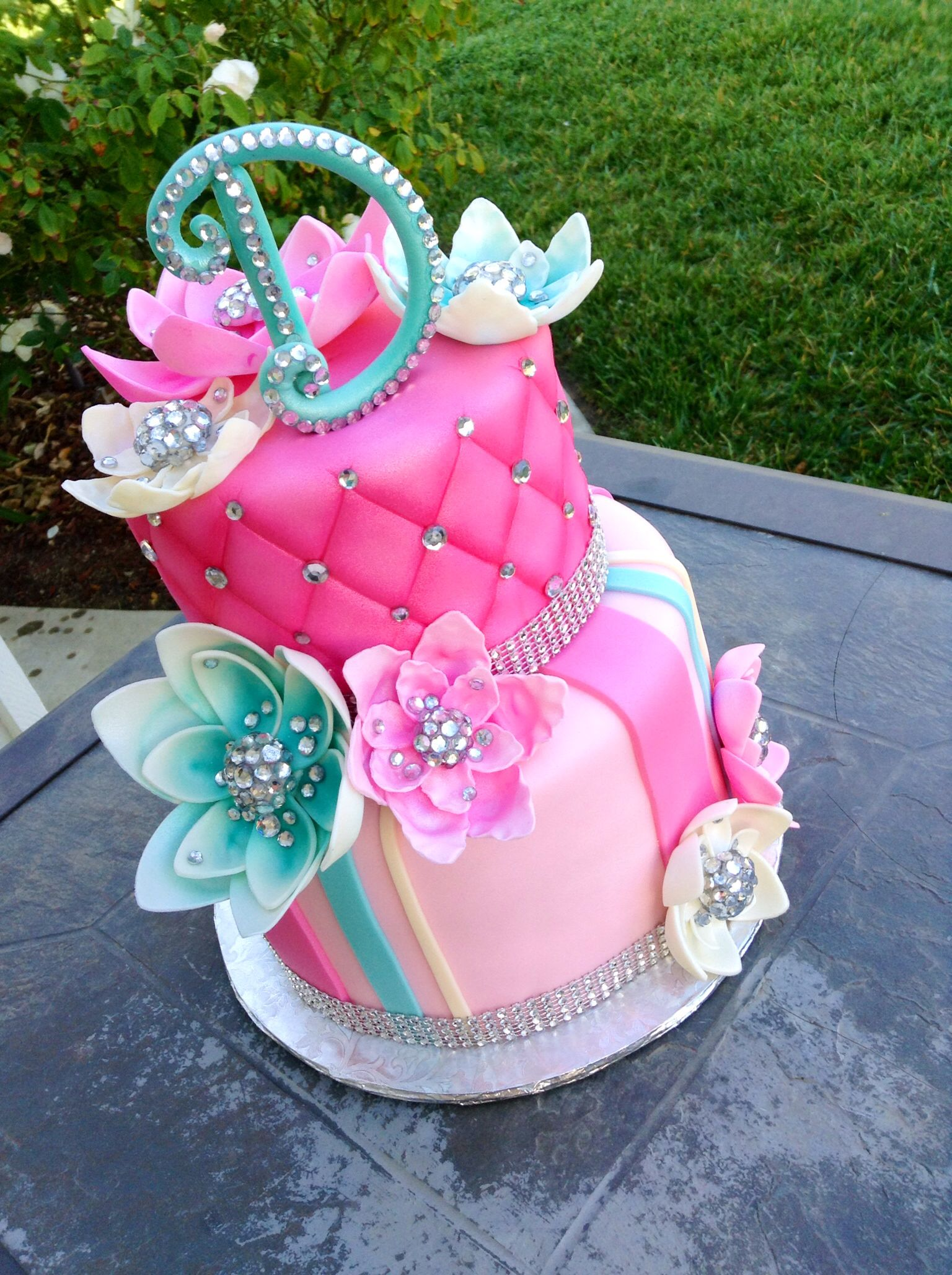 Delicious Homemade Beautiful Birthday Cake With Bling Friends cake