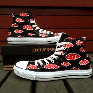 9b12892e098e Naruto Akatsuki Converse Shoes Shut Up And Take My Yen   Anime   Gaming  Merchandise