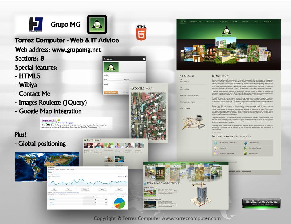 Grupo MG - IT Advice. Original web design, Google Analytics, Google ...