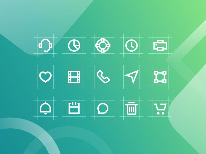 Markie 24px Grid Icon Set Icon set, Best icons, Icon design