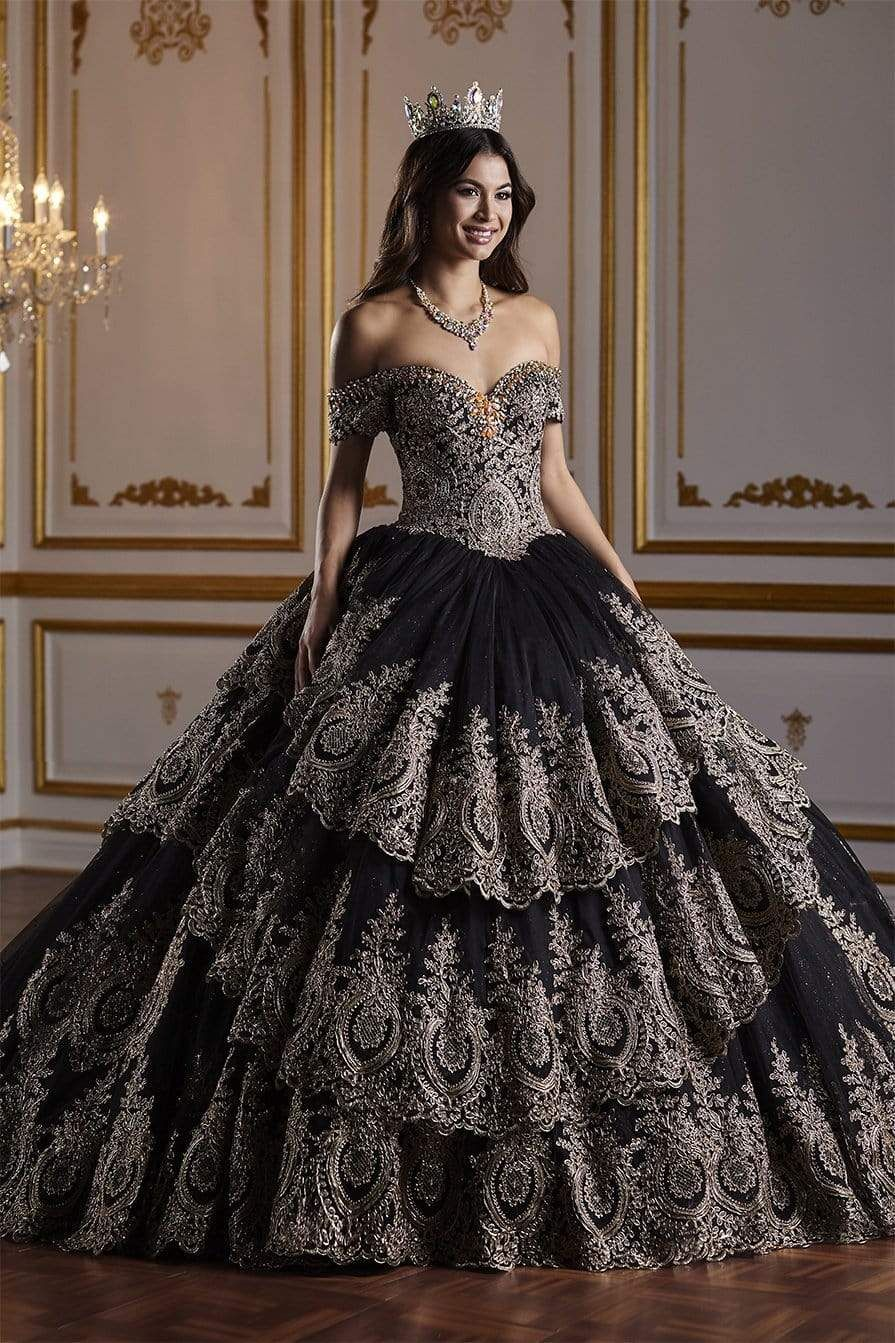 Quinceanera Collection 26934 Gorgeous Off The Shoulder Ball Gown Quince Dresses Black Quinceanera Dresses Pretty Quinceanera Dresses [ 1343 x 895 Pixel ]