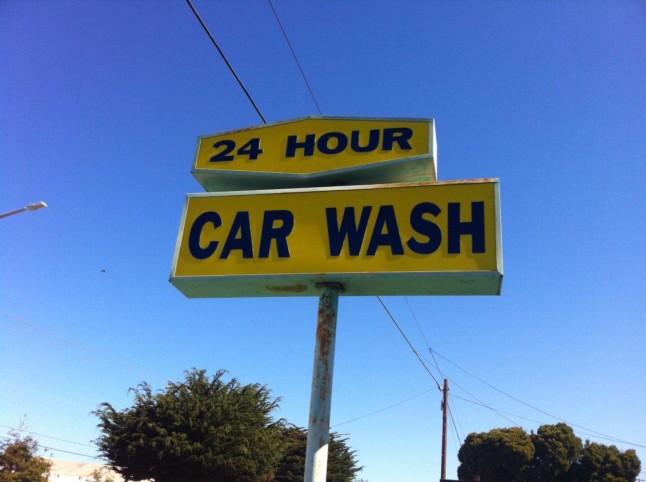 24 hour self serve car wash carwash vintage car wash