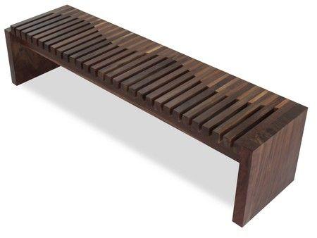 Rotsen Furniture Walnut And Tamburil Wood Contemporary Bench Contemporary Wood Benches Wood Bench Outdoor Modern Wood Furniture