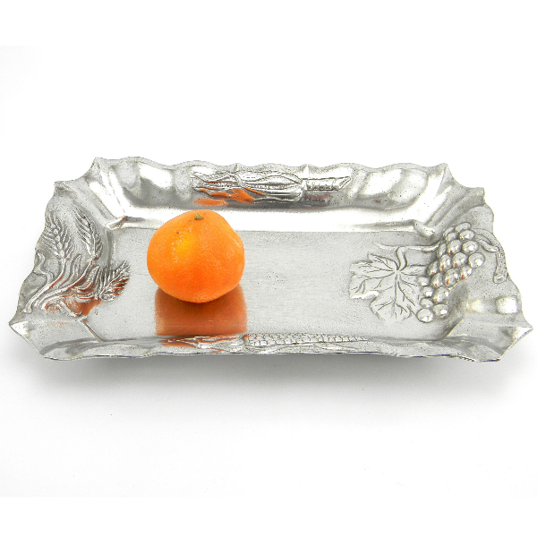 Pewter and glass tray, useful as candies bowl or fruit bowl. Handmade in Italy by Cavagnini Roberto