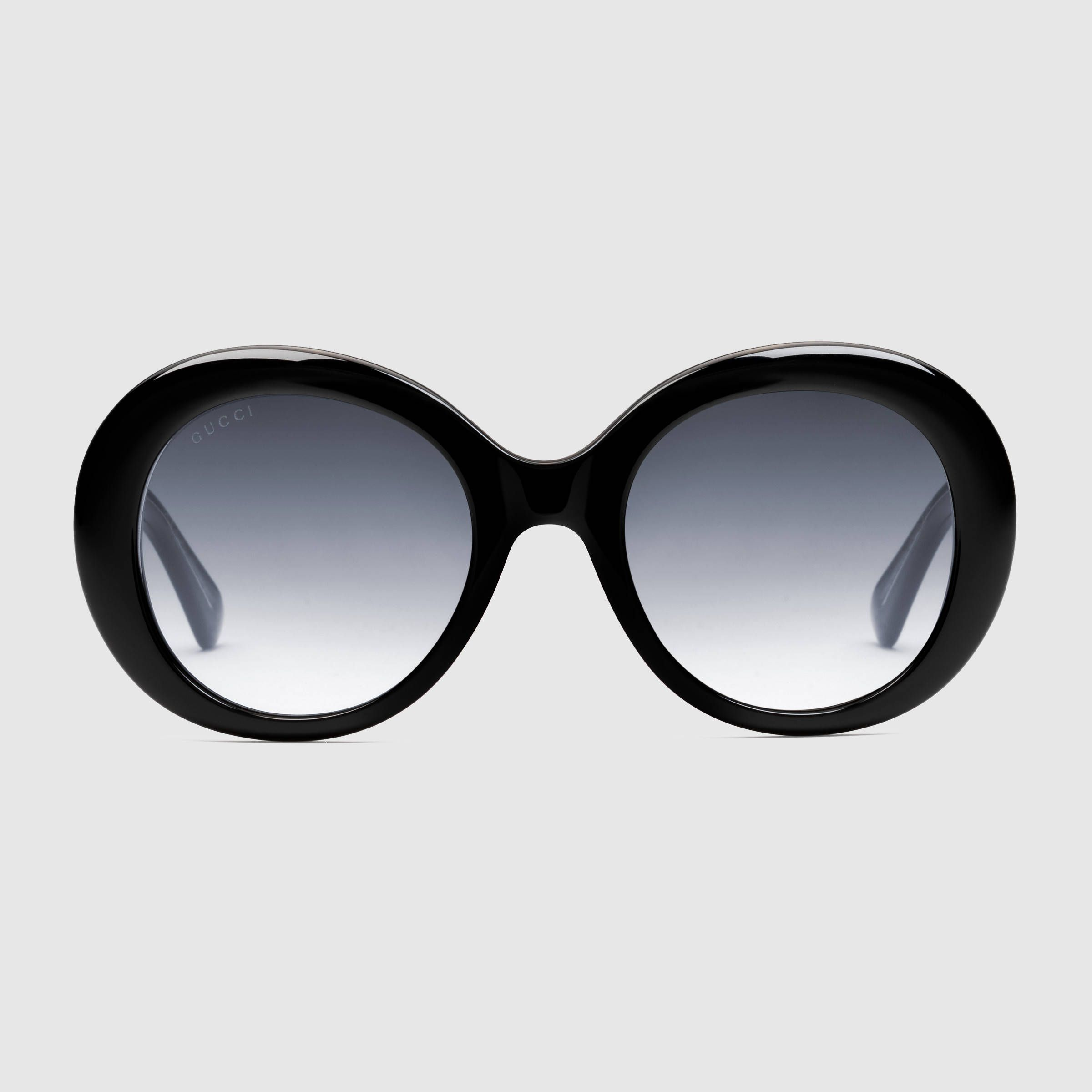 Gucci Women - Oval-frame acetate sunglasses - 434076J07701011 ...