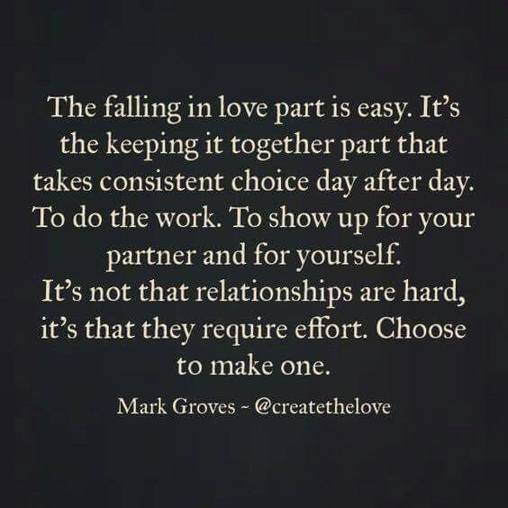 It\'s in the choosing | Quotes | Effort quotes, Relationship ...