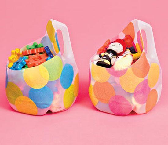 Organizador infantil para juguetes con botellas de - Organizador de juguetes ...