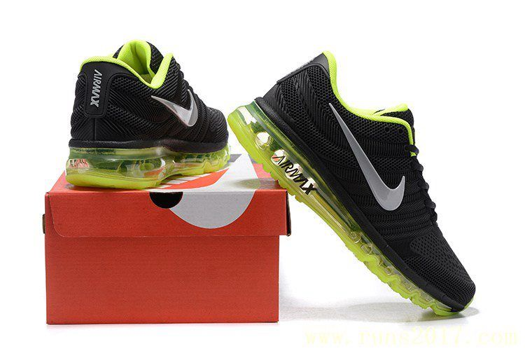 uk availability 6af93 6b114 Nike Air Max 2017 Men Black Fluorescent Green