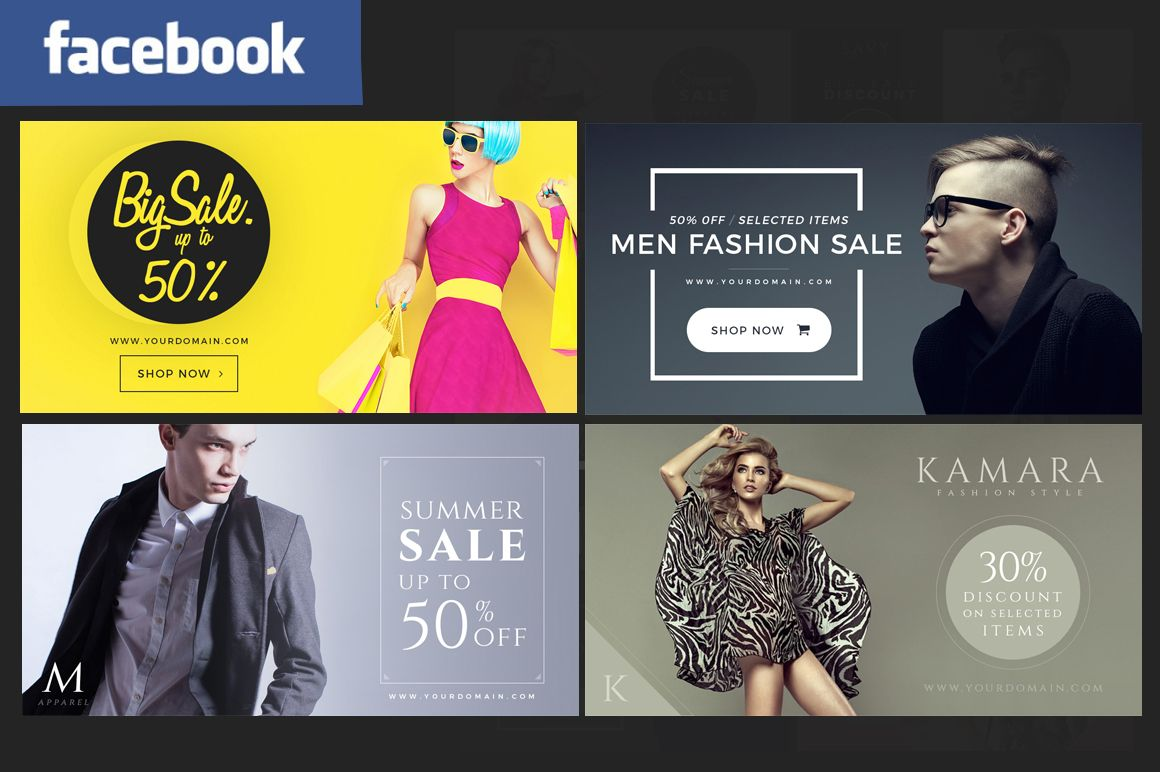 facebook fashion post banners ads by micromove on