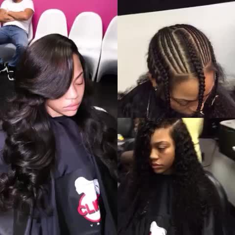 3 Part Sew In Hair Styles Braids With Weave Weave Hairstyles